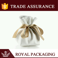 Royal Creative Fashion Jewelry Bag of PU Leather Ribbon Collectables Receive PU Bag