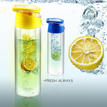 2015 Second Generation Travel and Household Plastic Fruit Water Bottle/Fruit Infuser Bottle/Fruit Infusion bottle