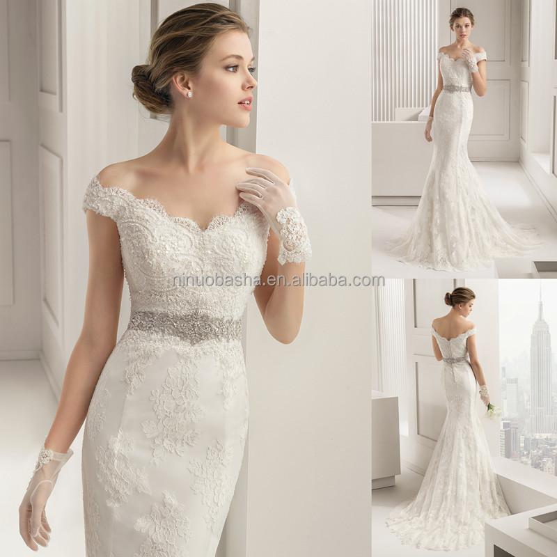 Turmec off the shoulder cap sleeve wedding dress for Wedding dress with off the shoulder sleeves