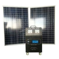 200w solar panels input 500w output 120AH battery for homeuse solar home generator