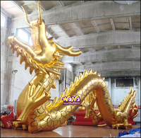Chinese style inflatable golden dragon