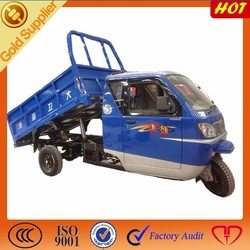 gasoline hydraulic cabin tricycle for cargo