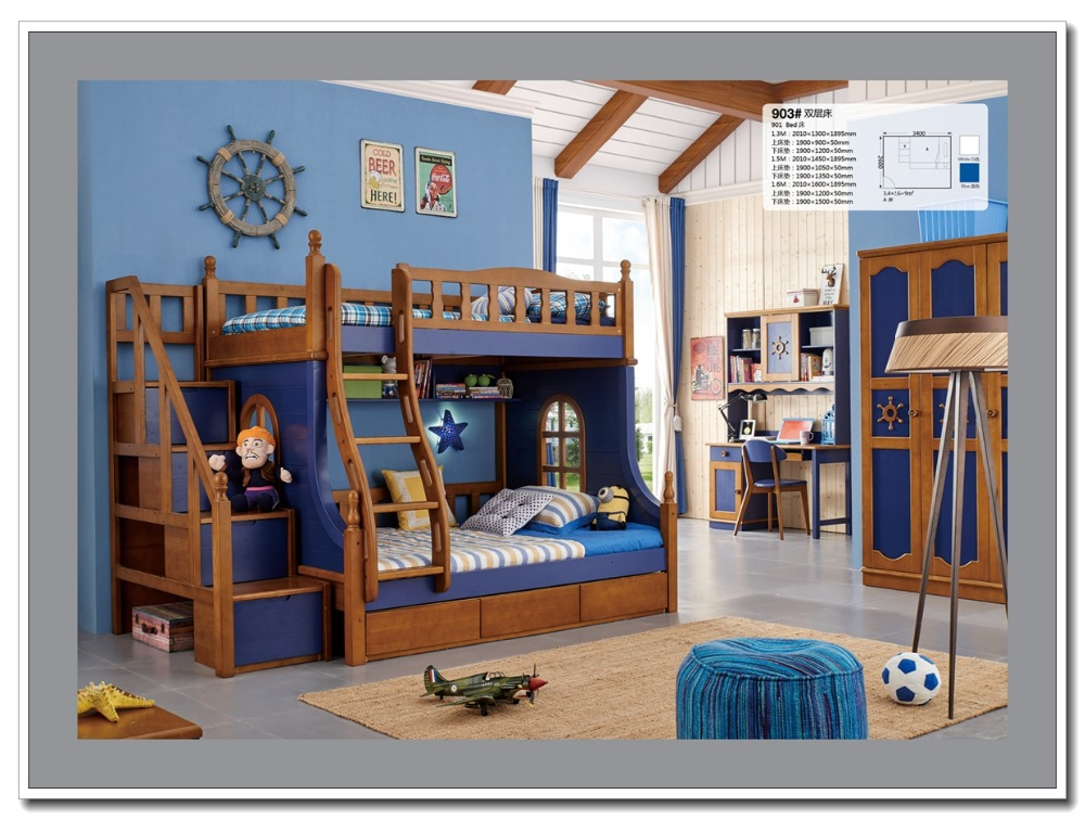 903 hot selling kids double deck bed cheap wooden bunk bed for Cheap double deck bed