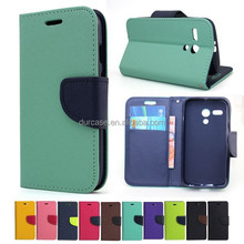 Fashion Book Style Leather Wallet Cell Phone Case for LG L-80 with Card Holder Design