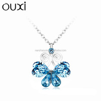 2014 crystal flower necklace &ouxi jewelry made with swarovski elements 10959