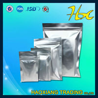 aluminum foil zipper clear heavy duty plastic bags with clear window