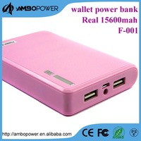20000mAh Power Generator 2USB 4adaptor Power Bank Portable External Battery Pack for smartphone