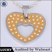 high quality low price heart to heart crystal pendant for couples