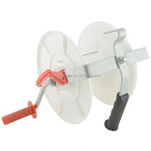 Low cost China electric fence for tapes and ropes plastic electric fence rotate reel for cattle fence