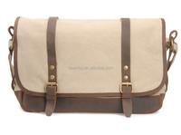 Fashion designer shopping vintage leather style canvas shoulder messenger bag