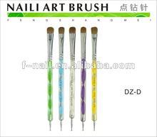 two way nail art dotting pen and brush DZ-D