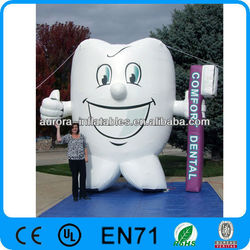 giant inflatable tooth for advertisement