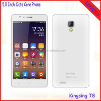 Low Price and High Quality Octa Core Mobile Phones Kingsing T8 8GB ROM Dual SIM Dual Cameras Android 4.4 Smartphone