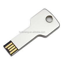 32 GB USB 2.0 Metal White Key Flash Memory Stick U Disk