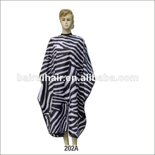 zebra hair cutting barber salon cape with water-proof