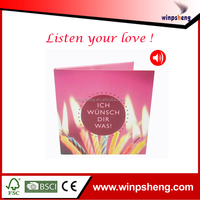 Happy Birthday Voice Recording Greeting Card/Audio Greeting Card