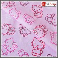 Carton design 100% cotton custom organic cotton flannel fabric for baby