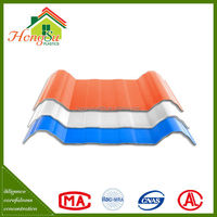 Easy installation corrosion resistance 4 layer roof tile made of pvc materials
