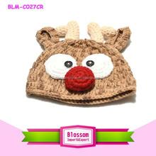 Hot sale 2015 Wholesale New design baby cap lovely christmas crochet knitting baby hats