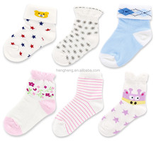 wholesale bulk cotton girls tube socks with 11 styles children socks 70017