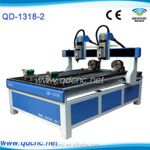 hot style!1318 4 axis support CNC Router for PVC/PCB/wood/MDF/aluminum/Brass QD-1318-2