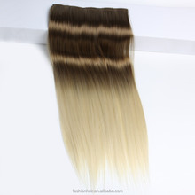 Two town synthetic fiber hair clip straight clip in hair extensions for african american high light 5 clip in hair extension