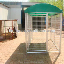 1 Door Galvanized Folding Large Dog Crate Kennel With Waterproof Cover