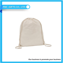 wholesale small printed drawstring recyclable plain cotton bag