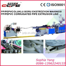 CGFE Plastic PE Single Wall Corrugated Pipe Machine