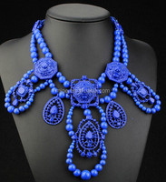 2015 new spring summer statement necklace beaded collar necklace N2161-5