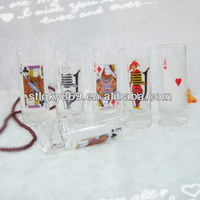 2014 New products poker glasses suits short drinking glass Creative transparent spirits glass cup