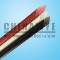 Silicone coated braided fiberglass sleeve