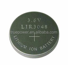 Rechargeable Lithium Ion Button Cell LIR3048 3.6V 180mAh for LED Lights