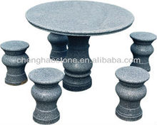 Granite stone carving bench table