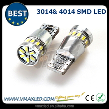 Factory high quality T10 /501/w5w/168 18x3014 smd 12v led auto light 194 canbus led auto car bulbs
