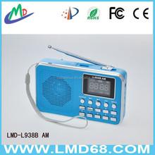 Hot sale convenient loudspeaker support USB,TF card,mp3,FM radio L-938B AM