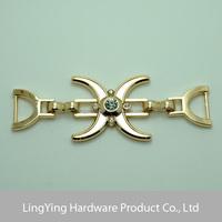 Fashion decorative rhinestone buckle for swimwear in gold color