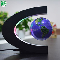 High end gift C shape base 3 inch floating globe significant romantic crystal love gift