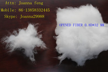 micro polyester recycled fiber 0.8D*32mm for fillig down jacket