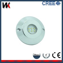 IP68 Stainless Steel Waterproof 12v RGB Led Underwater Light for Swimming Pool/Boat/Marine/Yatch