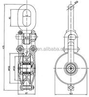 heavy duty lashing open snatch block with bearing type