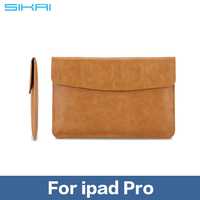 12.9 inch Genuine Leather Laptop Sleeve Bag Case Carrying Handle Bag For iPad Pro pouch bag