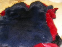 Dyed Rabbit Furs