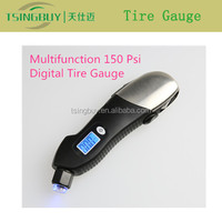 Factory new design LED backlight digital tire pressure gauge with stainless steel case and optional colors