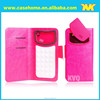 CES,IFA,Cebit fair every year universal smart phone wallet style leather case