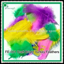 10cm Bright Easter Party Turkey Feathers