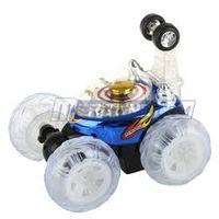 """10"""" Mini RC Invincible Tornado Toy Stunt Car BLUE"""