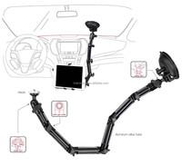 Universal Tablet PC Stand, Car Tablet Mount, Aluminum Windshield Tablet Holder