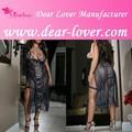 Caro- amante sexy plus size vestido longo sexy lingerie japonês