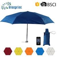 Square Handle Light Carry Bag Giveaways Promotional 5 Folding Umbrella